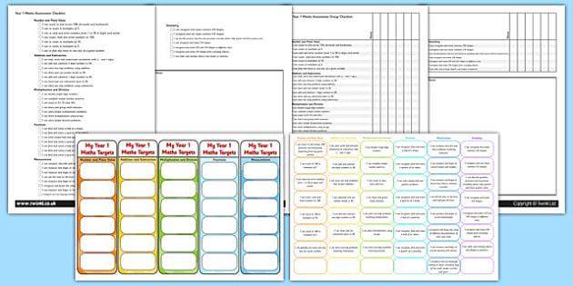 Year 1 Maths Assessment Pack - math, numeracy, assessment, assess