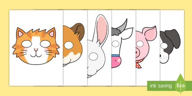 graphic relating to Printable Farm Animals referred to as Farm Animal Masks Printable - Farm, pets, animal, Purpose