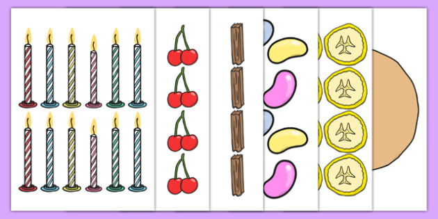 Cake Ingredients Fractions Cut and Stick Activity - cake ingredients, fractions, cut and stick, cut, stick, cake, ingredients, activity