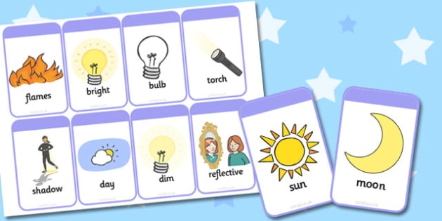 Light and Dark Flashcards - light, dark, flashcards, flash, cards