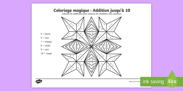 Coloriage Magique Jusqua 10.Coloriage Magique De Rangoli Additions Jusqu A 10