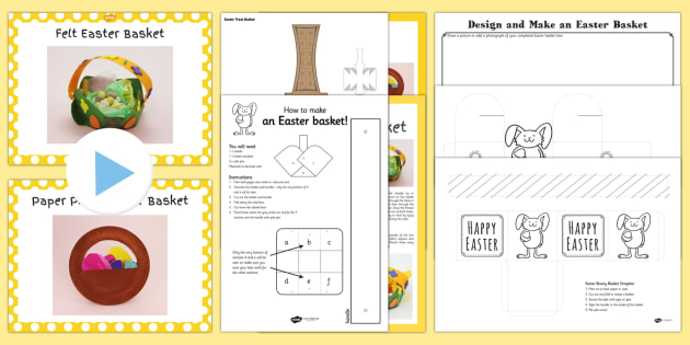 Easter basket resource pack easter basket craft cut stick easter basket resource pack easter basket craft cut stick eggs negle Image collections