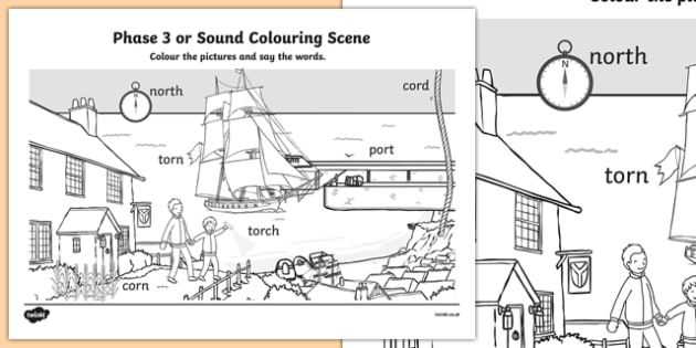 Phase 3 or Sound Colouring Scene