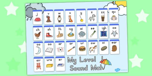 Winter Themed Level 1 Sound Mats - seasons, weather, sounds