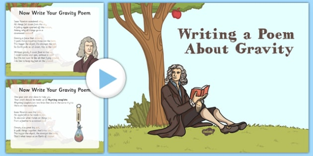 Writing a Poem About Gravity - CfE, writing, poetry, poem, gravity, Isaac Newton, scotland, scottish, science, curriculum, excellence