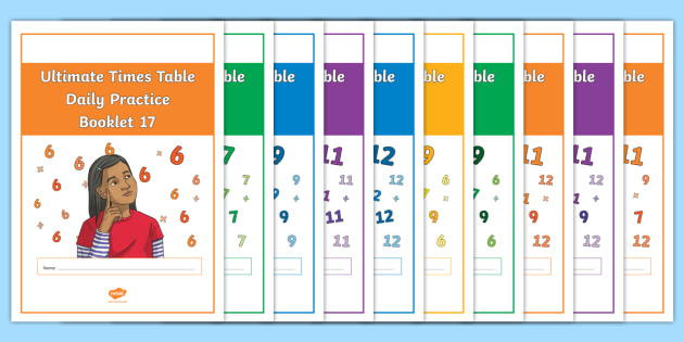 New Ultimate Times Table Daily Practice Booklets X6