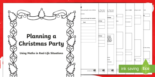 Maths Problem Solving Planning a Christmas Party Differentiated Maths Activity Booklet - problem solving, maths, australia, party, christmas, schedule, planning, budget,Australia