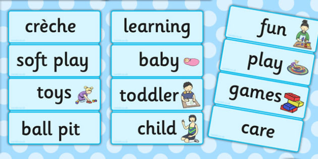 Creche Word Cards - creche, word, cards, word cards, words, play