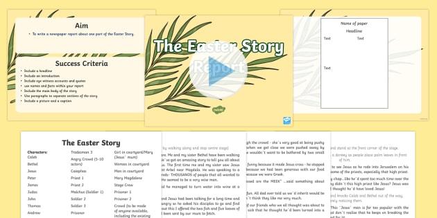 Easter Story Report Task Setter PowerPoint   - easter, easter story, play