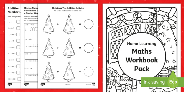 christmas themed year 1 maths addition and subtraction workbook christmas. Black Bedroom Furniture Sets. Home Design Ideas