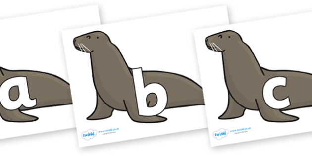 Phoneme Set on Sealions - Phoneme set, phonemes, phoneme, Letters and Sounds, DfES, display, Phase 1, Phase 2, Phase 3, Phase 5, Foundation, Literacy