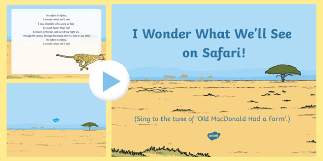 I Wonder What We'll See on Safari Song PowerPoint