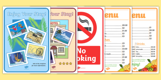 Hotel Role Play Props - hotel, role play, activity, props, resources