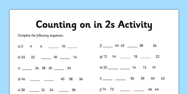 Skip Reverse Counting by 2 – Count back by 2s | Education ...