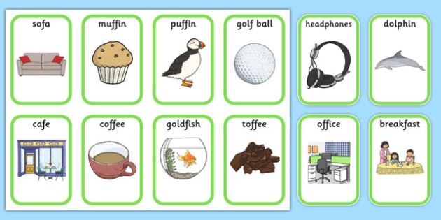 f words for kids medial f cards speech sounds phonology 10593