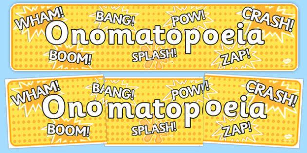 Onomatopoeia Display Banner - onomatopoeia, banner, literacy