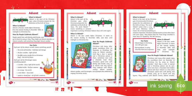 ks1 advent differentiated reading comprehension activity. Black Bedroom Furniture Sets. Home Design Ideas