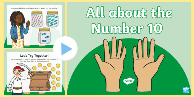 All About the Number 10 PowerPoint (teacher made)