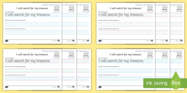 book week 2018 year 1 handwriting practice worksheets fine motor skills. Black Bedroom Furniture Sets. Home Design Ideas