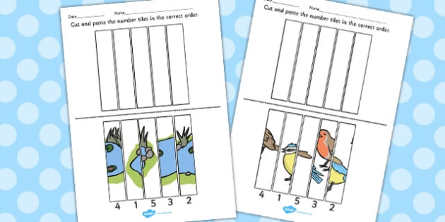Ugly Duckling Number Sequencing Puzzle - number, puzzle, sequence