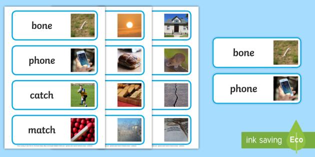 Photo Rhyming Word Cards - photo rhyming, word cards, photo, rhyming