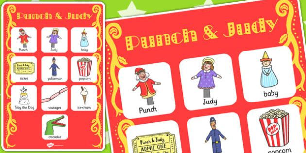 Punch and Judy Vocabulary Poster - vocabulary, poster, punch