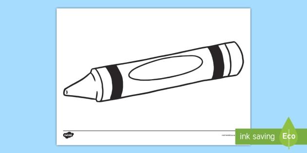 crayon template colouring page crayon colouring display