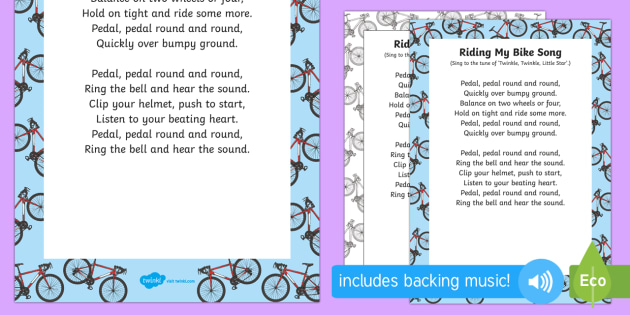 Riding My Bike Song Teacher Made