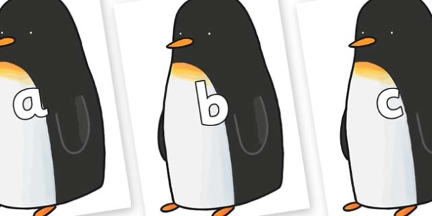Phase 2 Phonemes on Penguin to Support Teaching on Lost and Found - Phonemes, phoneme, Phase 2, Phase two, Foundation, Literacy, Letters and Sounds, DfES, display
