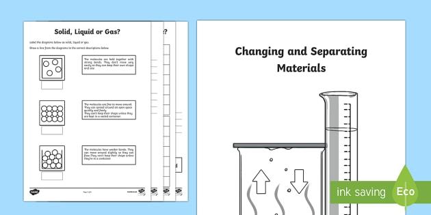 Separating Materials Worksheets Booklet - separating materials, separating materials worksheets, how to separate materials, ks2 materials, ks2 science