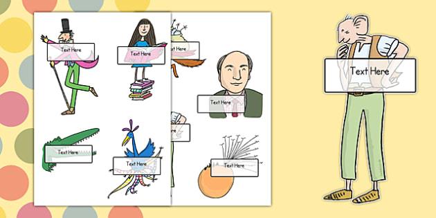 Roald Dahl Self-Registration Labels - roald dahl, self-reg, labels