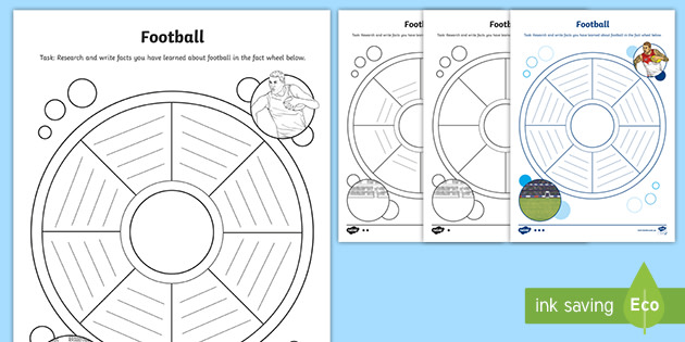 * NEW * Footy Colours Day Fact Wheel Differentiated Worksheet