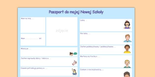 Paszport do nowej szkoły po polsku - pierwszy dzień