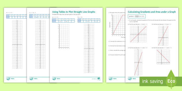Straight Line Graphs Worksheets - Secondary or Post 16 Resources