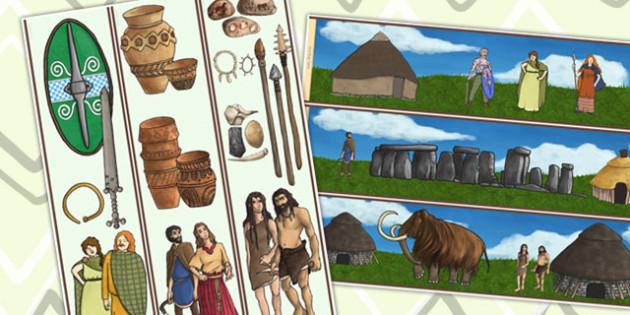 Stone Age to the Iron Age Display Borders - stone age, iron age