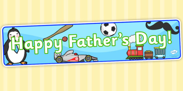 Happy Father's Day Display Banner - header, dad, father, display