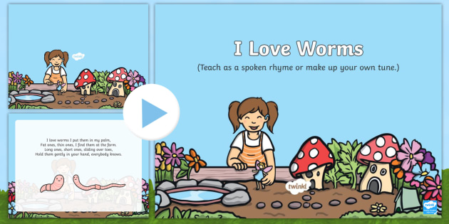 i love worms song powerpoint eyfs early years key stage 1