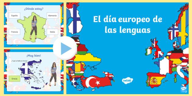 Países del día Europeo de las lenguas PowerPoint-Spanish
