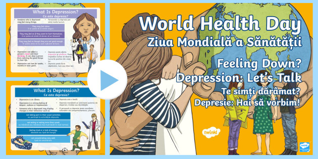KS2 World Mental Health Day Assembly PowerPoint English Romanian