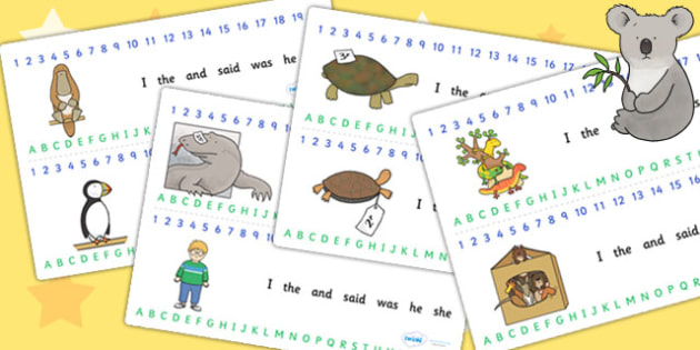 Combined Number and Alphabet Strips to Support Teaching on The Great Pet Sale - pets