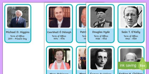 Presidents of Ireland Flashcards
