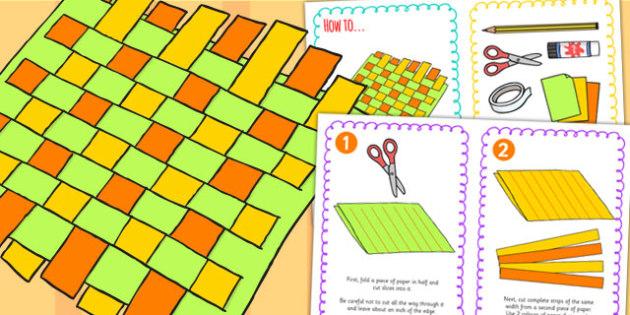 Paper Weaving Craft Instructions - paper craft, craft, art, design