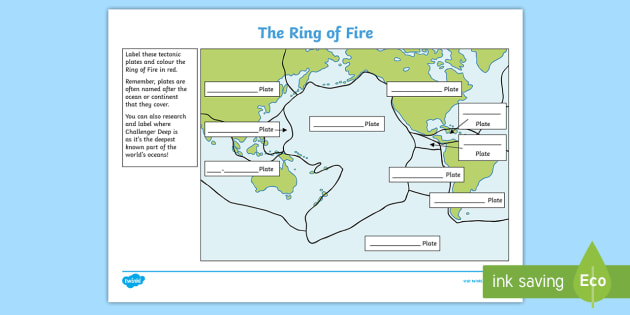 New Ks2 The Ring Of Fire Worksheet Pacific Tectonic Plates