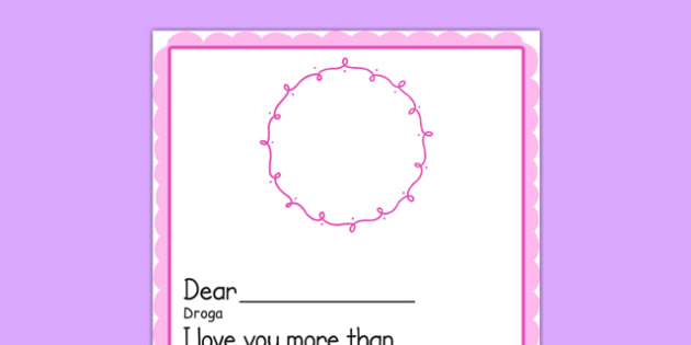 I Love You More Than MotherS Day Card Template Blank Polish