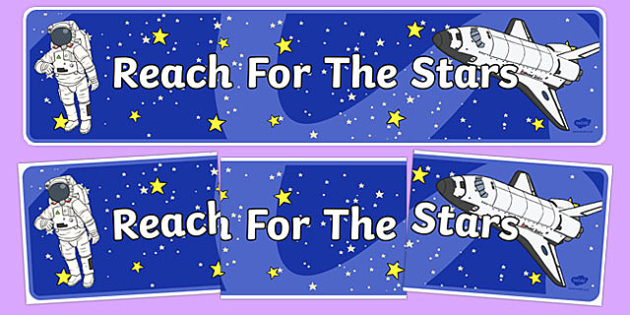 Reach For The Stars Motivational Display Banner - banners, poster