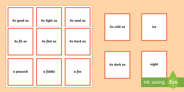 Matching Game Simile Teacher Made