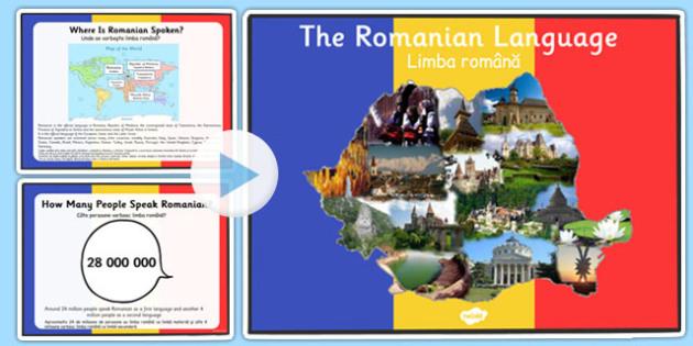 Romanian Language PowerPoint Romanian Translation - romanian, language, powerpoint, romanian language, information, origin