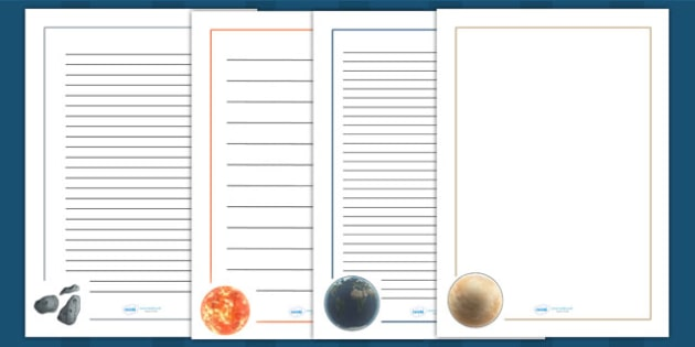Space Page Borders Detailed Images - space, planets, border