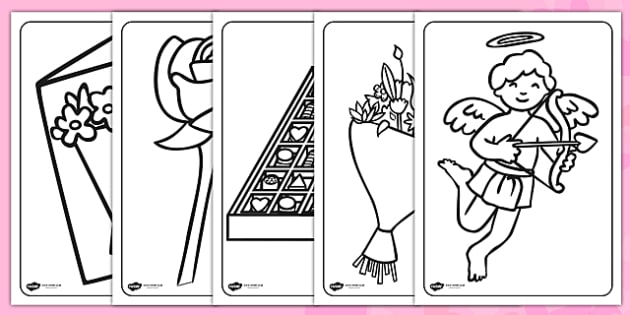 Day Colouring Pages - valentines day, colouring