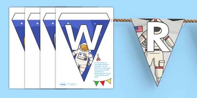 Welcome to Our Class Bunting Space Themed - welcome, bunting